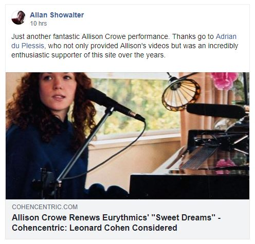 Allan Showalter ~ Sweet Dreams ~ Allison Crowe