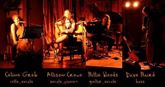 Allison Crowe Band - Celine Greb, Allison Crowe, Billie Woods, Dave Baird