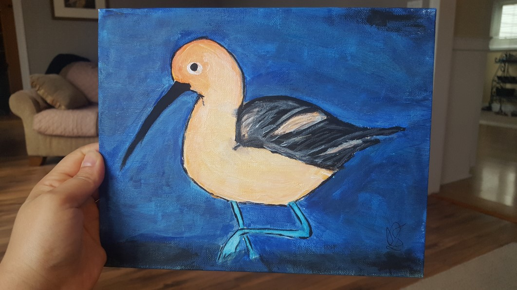 American Avocet - painting by Allison Crowe for the Kidney Foundation of Canada - A Brush of Hope 2017