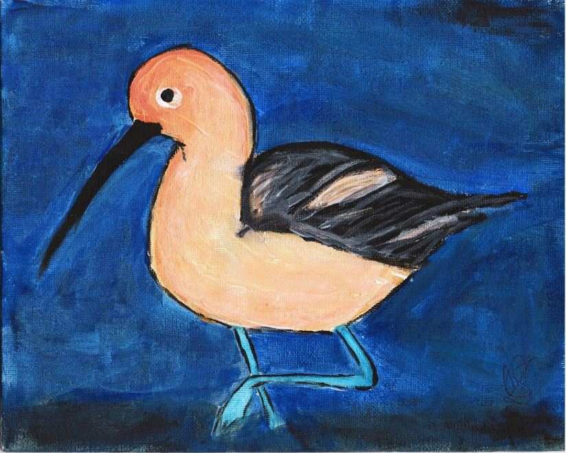 Allison Crowe - A Brush of Hope 2017 - American Avocet