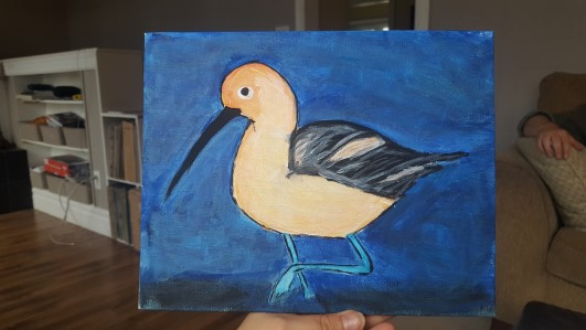 American Avocet - Allison Crowe painting for A Brush of Hope 2017 - 531 x 299px