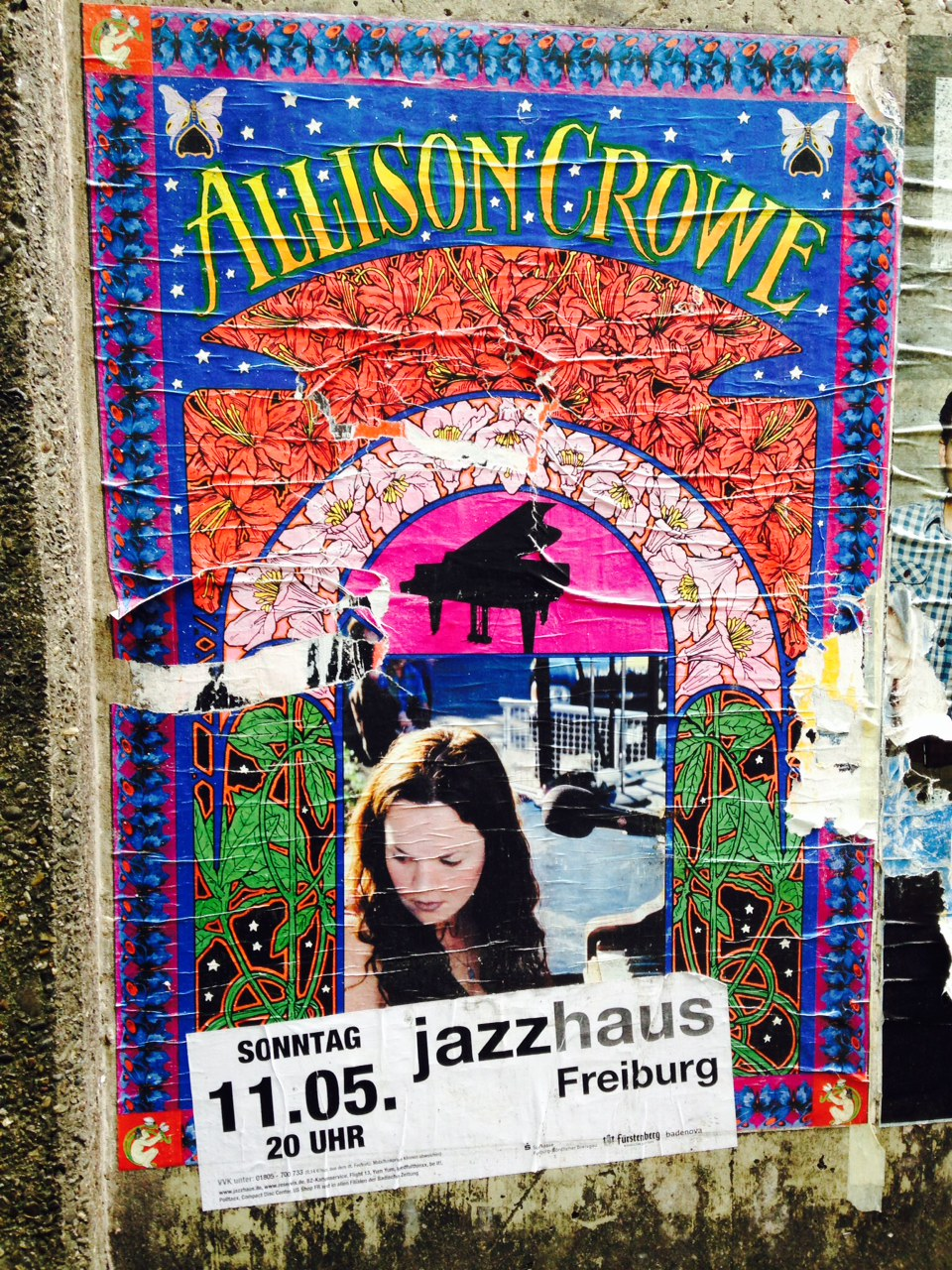Allison Crowe - Jazzhaus Freiburg - Bob Masse rock poster art