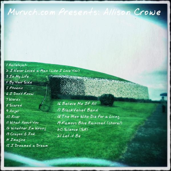 Muruch.com Presents: Allison Crowe - album back cover