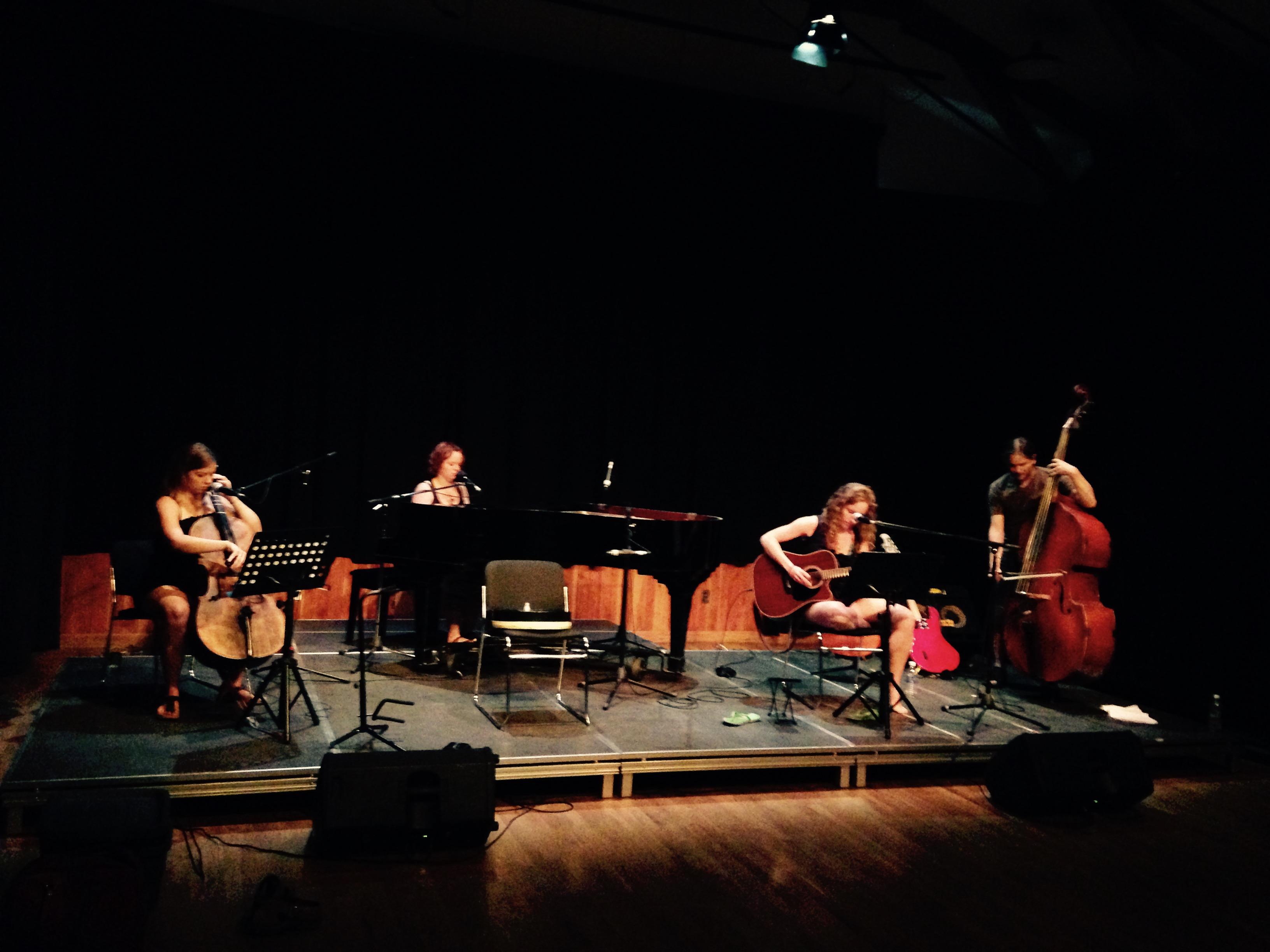 Allison Crowe, Billie Woods, Celine Greb, Dave Baird - Summer 2015 soundcheck