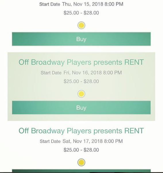 RENT - Box Office 2017 - Off Broadway Players