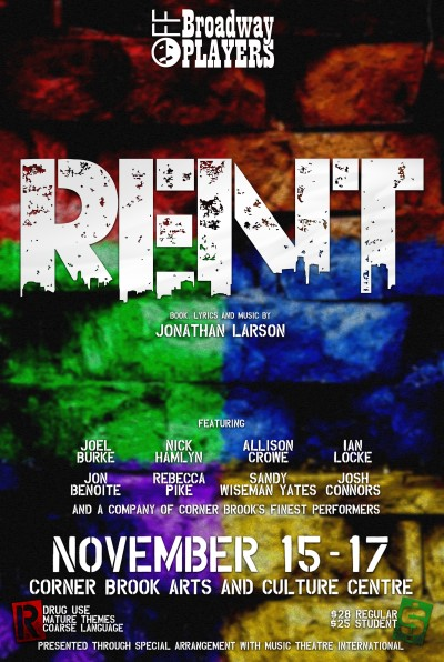 RENT - Off Broadway Players incl. Allison Crowe - designed by Daniel Tucker