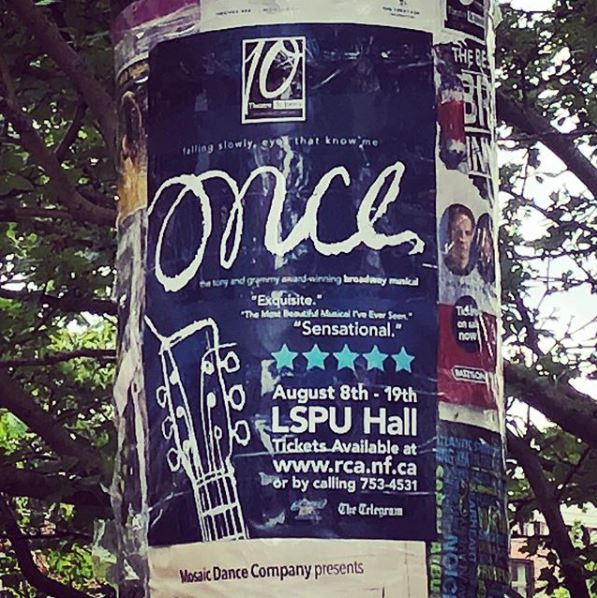 Allison Crowe day-off - Once poster pole - St. John's, Newfoundland