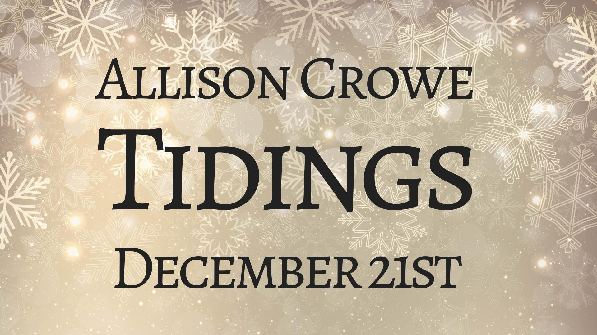 Tidings 2018 - RAC Corner Brook - Allison Crowe