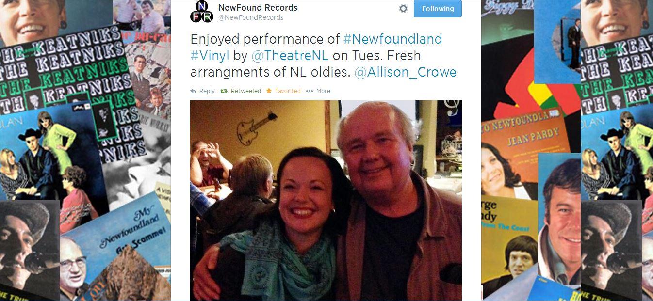 Wayne Tucker & Allison Crowe @ Newfoundland Vinyl 2014