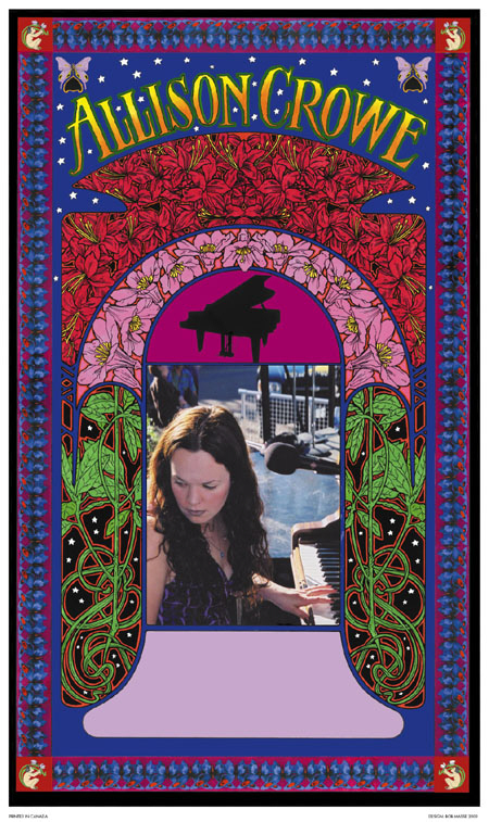 Bob Masse designed Allison Crowe concert poster