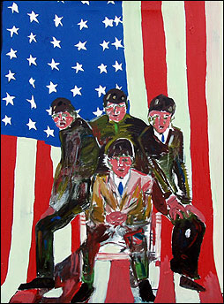 Beatles It was 40 Years Ago Today art by Paul Kostabi