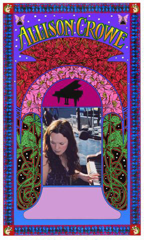 Allison Crowe concert poster by Bob Masse