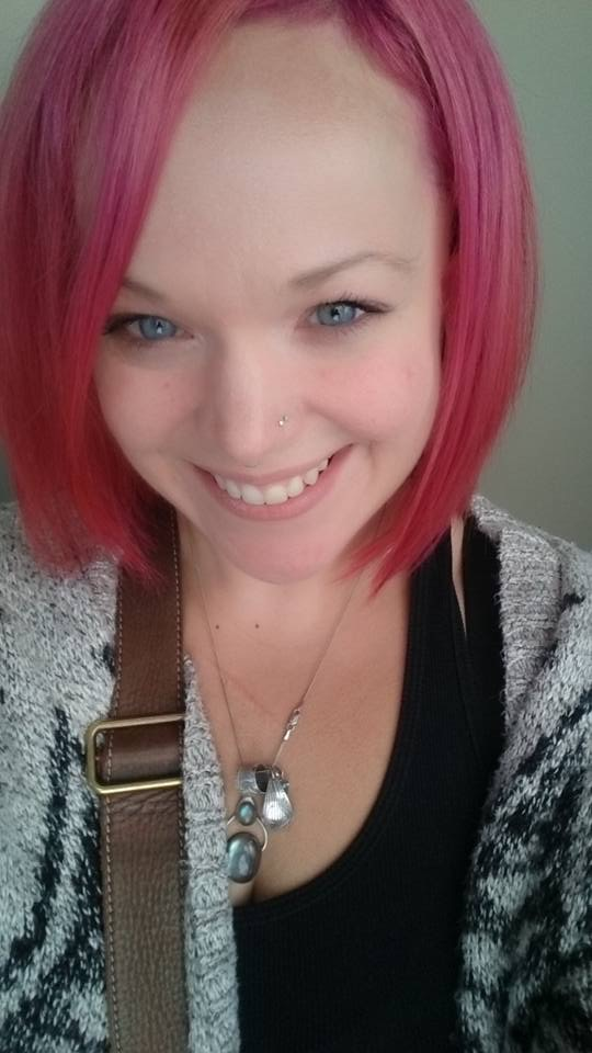 Allison Crowe - pink hair - September 23, 2015